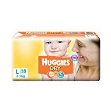 Buy Huggies New Dry Large Size Diapers (28 Counts) from Amazon