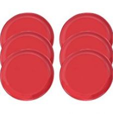 Buy Servewell Solid RED Desire Dinner Plate, 27cm, Set of 6 from Amazon