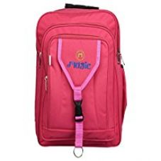 Buy S L Synthetic 45 Liters Pink School Bag from Amazon