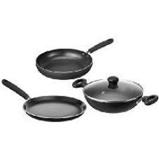 Solimo Non-Stick 3-Piece Kitchen Set (Induction & Gas compatible) for Rs. 1,399