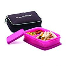 Signoraware Compact Small Lunch Box with Bag, Pink for Rs. 310