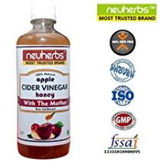 Buy Neuherbs Apple Cider Vinegar with the Mother and Honey - 350ml Raw, Unfiltered & Undiluted from Amazon