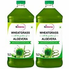 Buy St.Botanica Wheatgrass With Aloevera Juice - With No Added Sugar - Natural and Pure - 500ml - 2 Bottles from Amazon