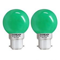 Buy Eveready 0.5-Watt 1 UP Deco LED Bulb (Green and Pack of 2) from Amazon