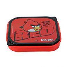 Buy Angry Birds Plastic Lunch Box, 500ml, Red from Amazon