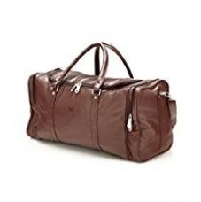Buy Mboss Leather 53.34 cms Brown Travel Duffle (TB 001 BROWN SINGLE) from Amazon
