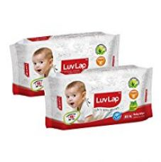 Buy Luvlap Paraben Free Baby Wet Wipes with Aloe Vera (80 Wipes, Pack of 2, 160 Sheets) from Amazon