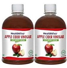 HealthViva Apple Cider Vinegar Combo with Mother  500 ml (Pack of 2) for Rs. 549
