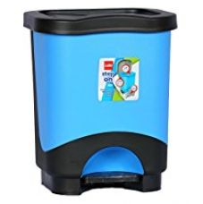 Cello Step On Plastic Garbage Bucket, 8 Liters, Blue and Black for Rs. 440