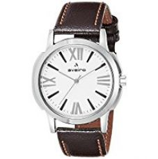 Aveiro Analog White Dial Men's Watch - AV125WHTBRN for Rs. 358