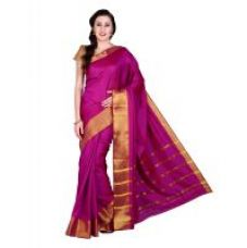 Buy Parchayee Solid Pink Mysore Art Silk Uppada Saree 94904B for Rs. 829