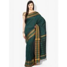 Parchayee Striped Green Mysore Cottonsilk Uppada Saree 94685B for Rs. 1,999