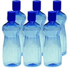 Princeware Aster Pet Fridge Bottle, 500ml, Set of 6, Blue for Rs. 162