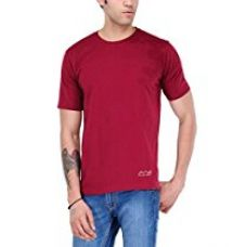 Buy Scott International Men's Jersey Round Neck Dryfit Polyester T-Shirt - Maroon from Amazon