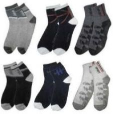 Multicolor Cotton Ankle Socks(Set Of 6) for Rs. 119