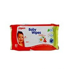 Pigeon Baby Wipes, Cham and Rose (Refill) 82 Wipes for Rs. 233