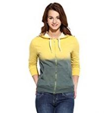 Campus Sutra Women's Cotton Quilted Hoodie (AW16_ZHSPR_W_PLN_YEDN_L) for Rs. 1,079