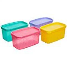 Tupperware Cool Square Half - Set Of 4 Multi Colour for Rs. 799