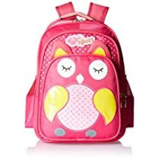 Albert and James Junior Synthetic Dark Pink School Bag for Rs. 549