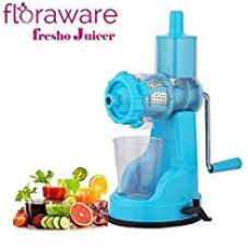 Buy Floraware Fruit & Vegetable Hand Juicer with Suction Base, Sky Blue from Amazon