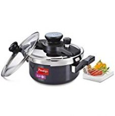 Prestige Clip On Hard Anodised pressure Cooker, 3 Litres, Silver for Rs. 2,999