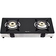 Buy Pigeon Favourite 2-Burner Glass Top Gas Stove, Black from Amazon
