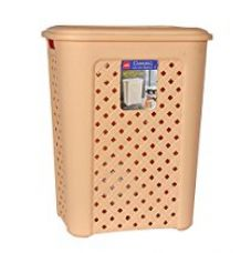 Cello Classic Plastic Laundry Basket, 50 litres, Beige for Rs. 1,029