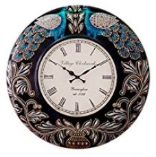 Buy RoyalsCart Peacock Painting Analog Wall Clock - 12 x 12 inch from Amazon