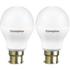 Buy Crompton B22 LED-12WDF-CDL-BI 12-Watt LED Lamp (Pack of 2, Cool Day Light) from Amazon