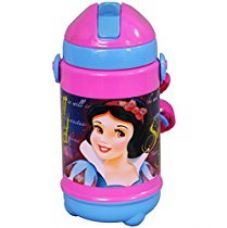 Buy Disney Snow White Plastic Sipper Bottle, 320ml, Pink/Blue from Amazon