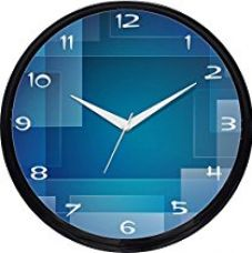 Buy Cartoonpur Round Large Designer Decorative Blue Maze Wall Clock - Non Ticking & Silent 11-Inch Wall Clock for Home / Bedroom / Living Room / Kitchen from Amazon