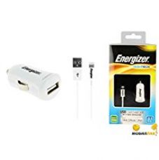 Energizer Car Charger With Cable Data Sync and charging cable for Apple iPhone 6S,6S Plus,6,6 Plus,5S,5C,5, iPad Air Pro, iPad Mini 1,2,3,4 iPod for Rs. 1,799