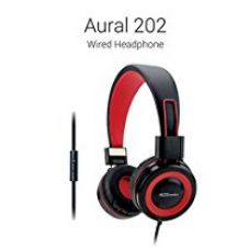 Buy Portronics Aural 202 Wired Headphone with (Red) In-Line Mic from Amazon