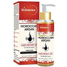 Buy St.Botanica Moroccan Argan Hair Repair Oil With Argan, Almond, Olive Oil, Vitamin E (No Mineral Oil), 100ml from Amazon