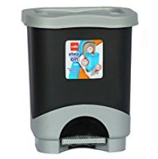 Buy Cello Step On Plastic Garbage Bucket, 8 Liters, Grey and Black from Amazon