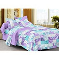 Get 57% off on Story@Home 208 TC 100% Cotton Lavender 1 Single Bedsheet with ...