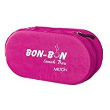 Milton Bon 2 Container Lunch Box, 560 ml, Pink for Rs. 182