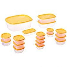 Princeware SF Package Container Set, 18-Pieces, Orange for Rs. 270