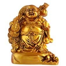 Jaipurcrafts Feng Shui Laughing Buddha Showpiece - 17.78 Cm (Ceramic, Gold) ( Design As Per Availability) for Rs. 649