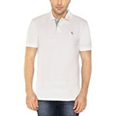 Buy The Cotton Company Men's Luxury Polo T Shirt - White from Amazon