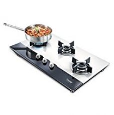 Buy Prestige Hob Glass Top 3 Burner Auto Ignition Gas Stove, Black/White from Amazon
