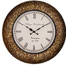 Buy RoyalsCart Decorative Wooden Analog Wall Clock from Amazon