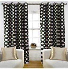 Buy Home Candy Eyelet Fancy Polyester 2 Piece Door Curtain Set - 84