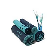 Spaces Atrium 4 Piece 450 GSM Cotton Towel Set - Blue Atoll and Medieval Blue for Rs. 1,485