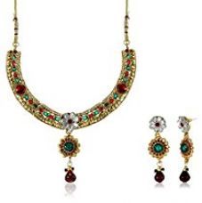 Aheli Jewellery Set for Women (Multi-Colour)(A3N8) for Rs. 1,000