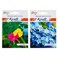 Buy Kraft Seeds 2 in 1 ForgetMeNot and  4 O'Clock  Flower Seed Packet from Amazon