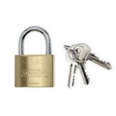 Stanley Solid Brass Standard Shackle Padlock - 50mm for Rs. 690