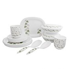Buy Borosil Melamine Mulberry Milano Dinner Set, 31 Pieces from Amazon