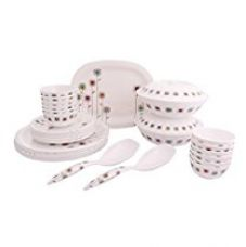 Buy Borosil Melamine Gloria Milano Dinner Set, 31 Pieces from Amazon