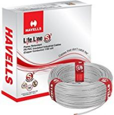 Havells Lifeline Cable WHFFDNEA11X0 1 sq mm Wire (Grey) for Rs. 950